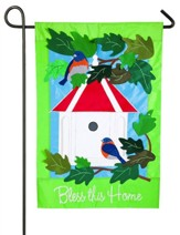 Bless This Home, Applique Flag, Small