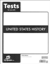 BJU Press U.S. History Grade 11 Test Pack (Fifth Edition)