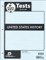 BJU Press U.S. History Grade 11 Test Pack Answer Key (Fifth  Edition)
