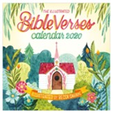 2020 Illustrated Bible Verses Wall Calendar
