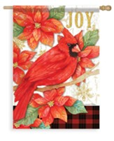 Joy Poinsettia Flag, Large