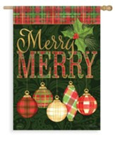 Merry Merry Ornaments Flag, Large