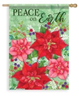 Poinsettia Bramble, Peace On Earth Flag, Large