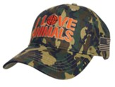 I Love Animals Cap, Camouflage