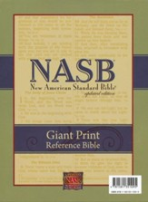 NASB Giant Print Reference Bible,  Genuine leather, Burgundy