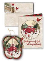 Blessed Journeys Ornament Christmas Cards, Box of 8