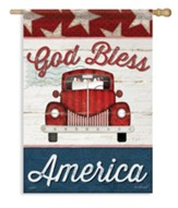 God Bless America (truck) Large Flag