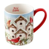 Cardinal Birdhouse, 14 oz. Mug in Gift Box