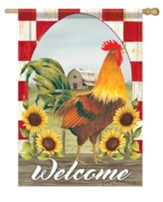 Welcome, Sunflower, Farm, Flag, Large