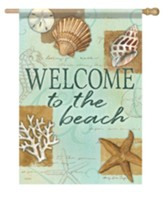 Welcome to the Beach, Shells, Flag, Large