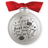 Love, Glass Ball Ornament