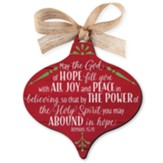 Joy, Red Barnwood Ornament