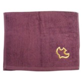 Dove Pastor Towel, Burgundy