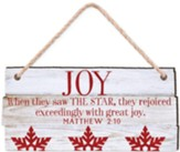 Joy, When They Saw the Star, They Rejoiced, Rustic Ornament
