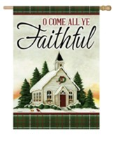 O Come All Ye Faithful Flag, Large