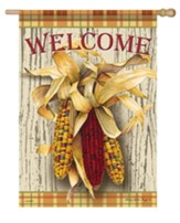 Welcome, Harvest Corn, Flag, Large