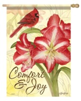 Comfort and Joy, Amaryllis, Flag, Large