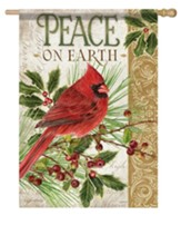 Peace on Earth, Cardinal, Flag, Large