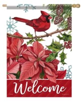 Welcome, Handsome Cardinal, Flag, Large