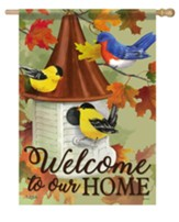 Welcome To Our Home, Songbird Meeting, Flag, Large