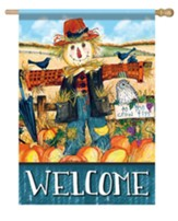 Welcome, Scarecrow, Flag, Large