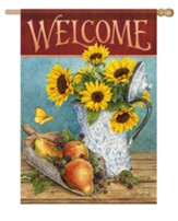 Welcome, Sunflowers and Pears, Flag, Large