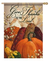 Give Thanks To the Lord Flag, Large
