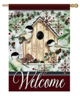 Welcome, Chilly Chickadees, Flag, Large