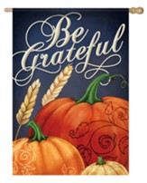 Be Grateful, Pumpkins, Flag, Large