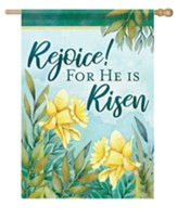 Rejoice! For He Is Risen, Signs of Spring, Flag, Large