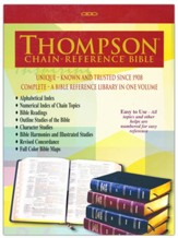 KJV Thompson Chain-Reference Bible, Large Print, Burgundy  Genuine Leather