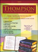 KJV Thompson Chain-Reference Bible, Large Print, Black  Genuine Leather, Capri Grain - Imperfectly Imprinted Bibles