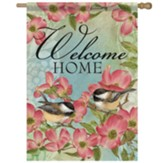 Dogwood Chickadee Flag, Large