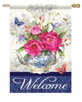 Welcome, Tea Garden, Flag, Large