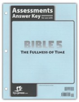 BJU Press Bible 5 The Fullness of Time Assessments Answer Key