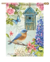 Bluebird Birdsong Flag, Large