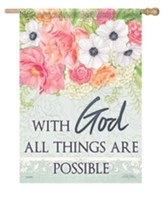 With God All Things Are Possible Flag, Large