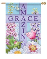 Amazing Grace, Cross, Amazing Inspiration, Flag, Large