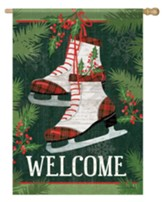 Welcome, Holiday Skates, Flag, Large