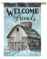 Welcome Friends, Farm, Flag, Large