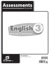 BJU Press English Grade 3 Assessments (3rd Edition)