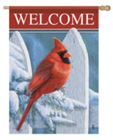 Welcome, Crimson Bird, Flag, Large