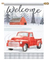 Welcome, Farm Truck, Flag, Large