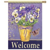 Happy Pansies Flag, Large