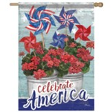 Patriotic Geranium Flag, Large