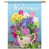 Fresh Cut Flowers Flag, Large