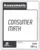 BJU Press Consumer Math Assessments  (3rd Edition)