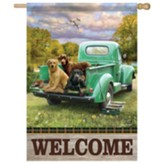Truck Bed Pups Flag, Large