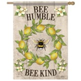 Bee Lemon Wreath Flag, Large