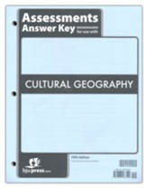 BJU Press Cultural Geography Grade 9 Assessments Answer Key  (5th Edition)